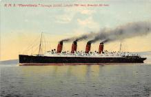 shpp006075 - Cunard Line Ship Postcard Old Vintage Steamer Antique Post Card