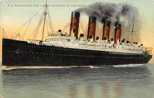 shpp006077 - Cunard Line Ship Postcard Old Vintage Steamer Antique Post Card