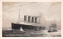 shpp006083 - Cunard Line Ship Postcard Old Vintage Steamer Antique Post Card