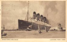 shpp006085 - Cunard Line Ship Postcard Old Vintage Steamer Antique Post Card