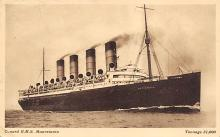 shpp006091 - Cunard Line Ship Postcard Old Vintage Steamer Antique Post Card