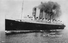 shpp006093 - Cunard Line Ship Postcard Old Vintage Steamer Antique Post Card