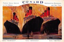 shpp006101 - Cunard Line Ship Postcard Old Vintage Steamer Antique Post Card