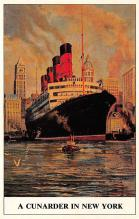 shpp006117 - Cunard Line Ship Postcard Old Vintage Steamer Antique Post Card