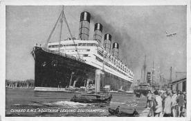 shpp007001 - Cunard Line Ship Postcard Old Vintage Steamer Antique Post Card