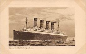 shpp007005 - Cunard Line Ship Postcard Old Vintage Steamer Antique Post Card