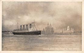 shpp007007 - Cunard Line Ship Postcard Old Vintage Steamer Antique Post Card