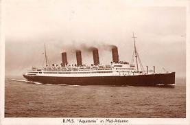 shpp007015 - Cunard Line Ship Postcard Old Vintage Steamer Antique Post Card