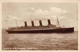 shpp007021 - Cunard Line Ship Postcard Old Vintage Steamer Antique Post Card