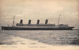 shpp007023 - Cunard Line Ship Postcard Old Vintage Steamer Antique Post Card