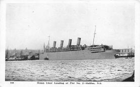 shpp007025 - Cunard Line Ship Postcard Old Vintage Steamer Antique Post Card