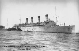 shpp007027 - Cunard Line Ship Postcard Old Vintage Steamer Antique Post Card