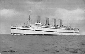 shpp007029 - Cunard Line Ship Postcard Old Vintage Steamer Antique Post Card