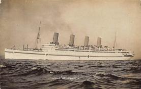 shpp007031 - Cunard Line Ship Postcard Old Vintage Steamer Antique Post Card