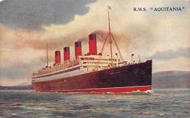 shpp007033 - Cunard Line Ship Postcard Old Vintage Steamer Antique Post Card