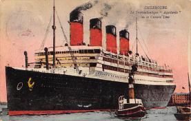shpp007037 - Cunard Line Ship Postcard Old Vintage Steamer Antique Post Card