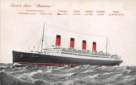shpp007039 - Cunard Line Ship Postcard Old Vintage Steamer Antique Post Card