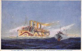 shpp007049 - Cunard Line Ship Postcard Old Vintage Steamer Antique Post Card