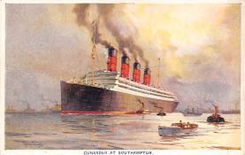 shpp007051 - Cunard Line Ship Postcard Old Vintage Steamer Antique Post Card