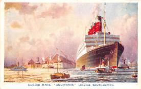 shpp007053 - Cunard Line Ship Postcard Old Vintage Steamer Antique Post Card