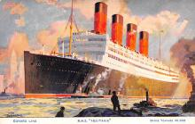 shpp007057 - Cunard Line Ship Postcard Old Vintage Steamer Antique Post Card