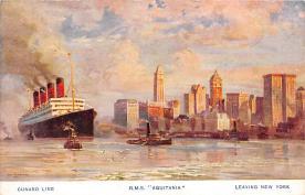 shpp007059 - Cunard Line Ship Postcard Old Vintage Steamer Antique Post Card