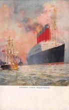 shpp007063 - Cunard Line Ship Postcard Old Vintage Steamer Antique Post Card