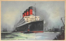 shpp007065 - Cunard Line Ship Postcard Old Vintage Steamer Antique Post Card