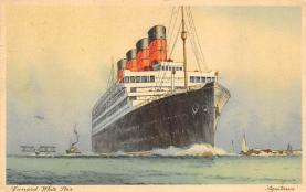 shpp007067 - Cunard Line Ship Postcard Old Vintage Steamer Antique Post Card