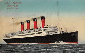 shpp007069 - Cunard Line Ship Postcard Old Vintage Steamer Antique Post Card