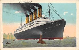 shpp007071 - Cunard Line Ship Postcard Old Vintage Steamer Antique Post Card