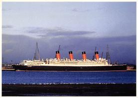 shpp007073 - Cunard Line Ship Postcard Old Vintage Steamer Antique Post Card