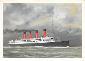 shpp007077 - Cunard Line Ship Postcard Old Vintage Steamer Antique Post Card