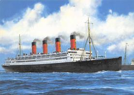 shpp007081 - Cunard Line Ship Postcard Old Vintage Steamer Antique Post Card