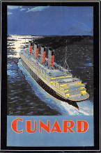shpp007083 - Cunard Line Ship Postcard Old Vintage Steamer Antique Post Card