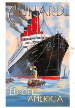 shpp007087 - Cunard Line Ship Postcard Old Vintage Steamer Antique Post Card