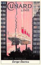 shpp007089 - Cunard Line Ship Postcard Old Vintage Steamer Antique Post Card
