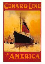 shpp008005 - Cunard Line Ship Postcard Old Vintage Steamer Antique Post Card