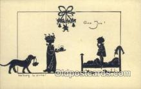 sit001065 - Artist Valborg Lanner Silhouette Postcard Post Card Old Vintage Antique