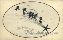 sit001066 - Silhouette Postcard Post Card Old Vintage Antique