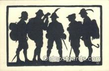 sit001087 - Silhouette Postcard Post Card Old Vintage Antique