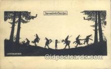 sit001092 - Artist Elsbeth Forck Silhouette Postcard Post Card Old Vintage Antique