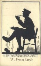 sit001119 - Silhouette Postcard Post Card Old Vintage Antique