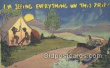 sit001194 - Im Seeing Everything on this Trip  Postcard Post Card, Carte Postale, Cartolina Postale, Tarjets Postal,  Old Vintage Antique