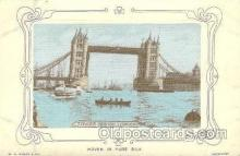 slk001002 - Tower Bridge London, Silk Postcard Postcards