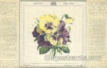 slk001006 - The Art Needlework Series Silk Postcard Postcards