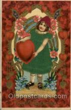 slk100002 - To My Valentine, Silk Postcard Postcards