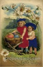slk100004 - Best Easter Wishes, Silk Postcard Postcards