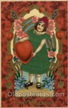 slk100005 - To My Valentine, Silk Postcard Postcards