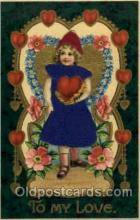 slk100006 - To My Love, Silk Postcard Postcards
